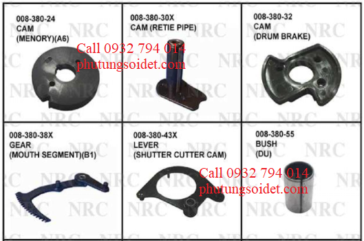 Cam(Drum brake)008-380-32 Gear (Mouth segment)(B1) 008-380-38X Lever (Shutter cutter cam) 008-380-43X Bush )Du) 008-380-55 Gear (Drive) 008-390-3X, Clutch (Cam) 008-390-4X