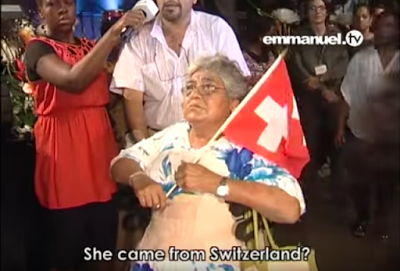T.B. Joshua refuses $1,000 offering presented to him by Swiss woman–see why (Video/photos)