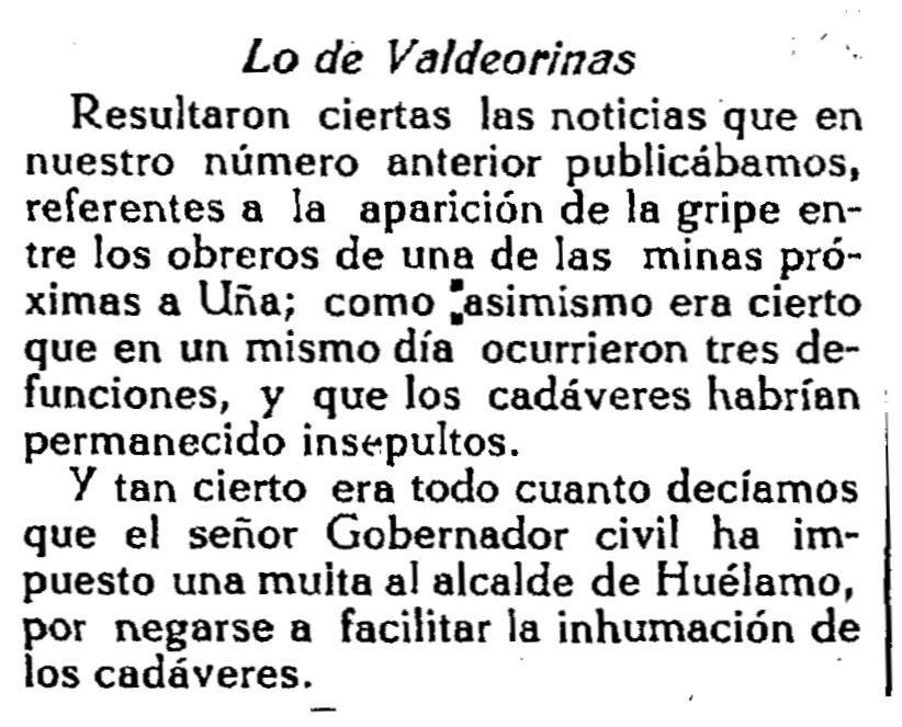 Lo de Valdeorinas (El Liberal)