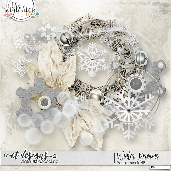 Cyber Monday SALE, Winter Dreams minikit for FREE