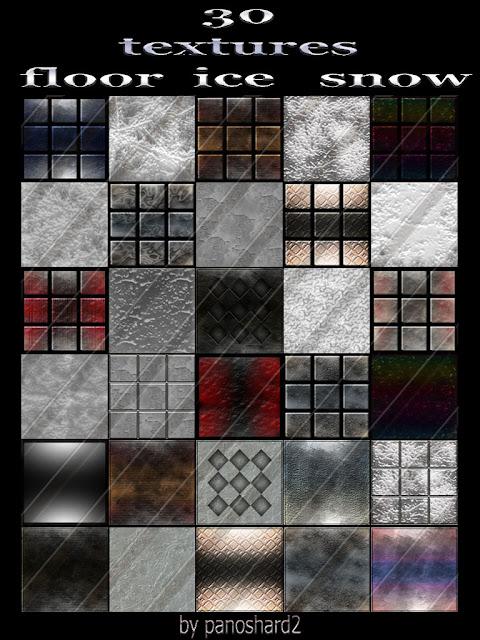 TEXTURES IMVU FOR SALE: 30 textures floor ice snow 256x256 for imvu