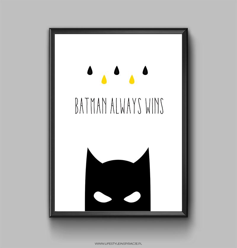 plakat z Batmanem do pobrania