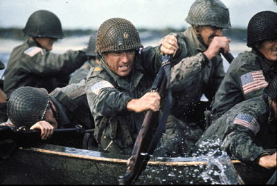 Robert Redford leading the river assault