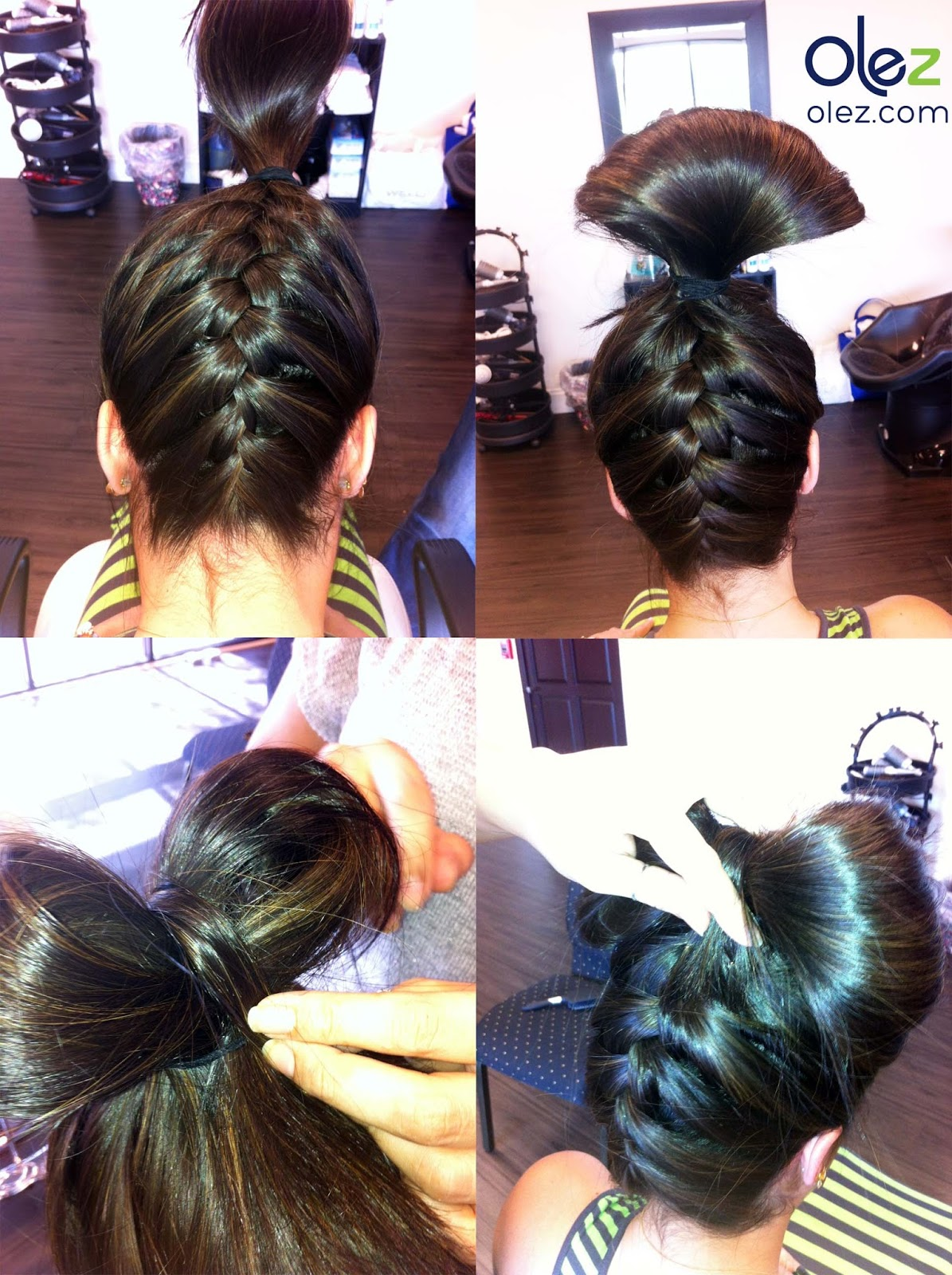 Olez Haircare Blog How To Upside Down French Braid Updo