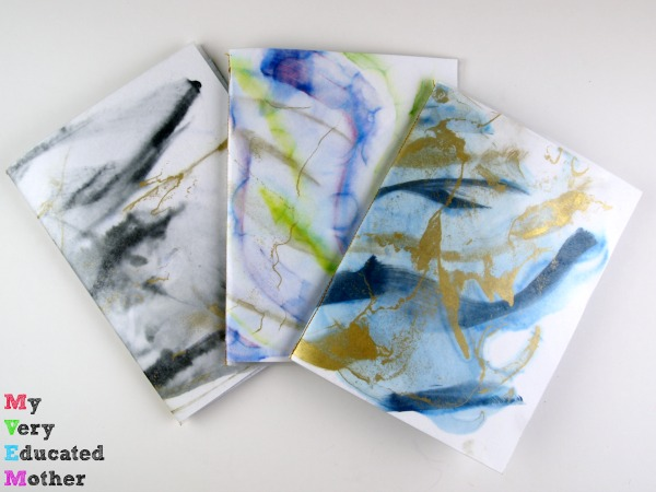 A no frills way of staying organized: DIY Marbled Bullet Journals