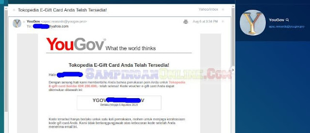 cara redeem e gift card tokopedia yougov