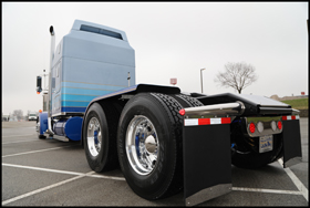 Mark Hollen's 2014 Kenworth W900L named: She Gives Me The Blues