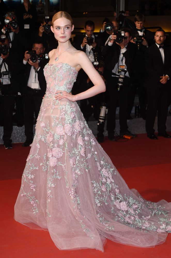 Elle Fanning goes glamorous for 'The Neon Demon' premiere at the Cannes Film Festival
