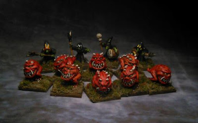 1st place: Squogglers and Night Goblins, by Hetairoi - wins £20 Pendraken credit, and a copy of 'Warband'!