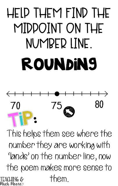 rounding tips using a midpoint on a number line