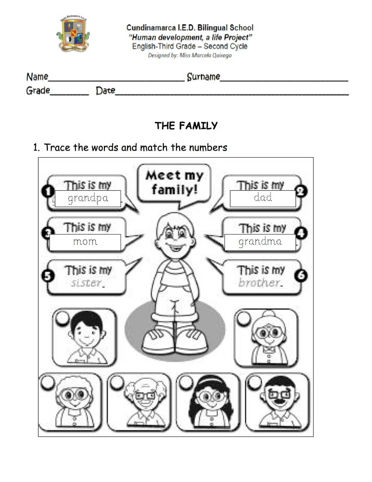 - First Grade Zone: English Worksheets