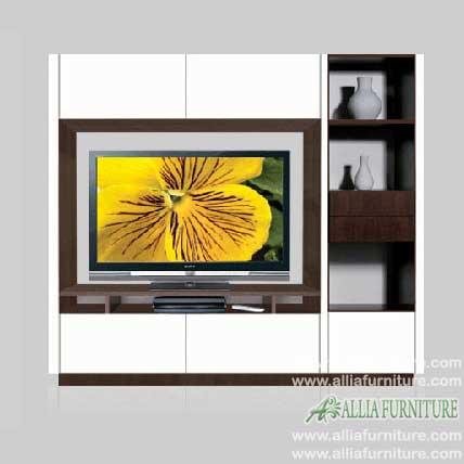 lemari tv minimalis pajangan model nixon