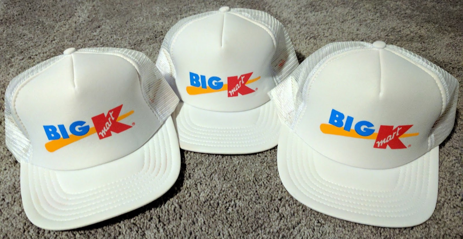fef1aab1 Big Kmart grand re-opening hats that were given away at this store in the  90's.