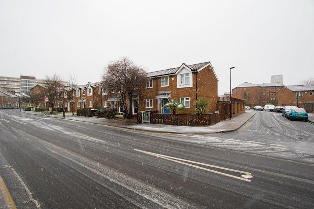 Nevicata a Londra