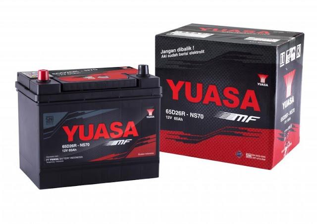 Jenis/type  aki Yuasa dan spesifikasi yang cocok untuk mobil dan motor