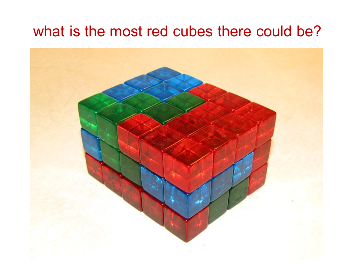 Median Don Steward Mathematics Teaching Cube Buildings