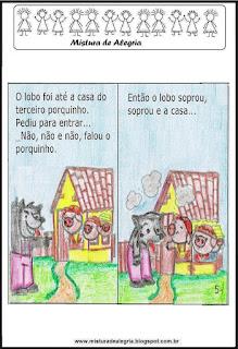 Livro história dos três porquinhos colorir
