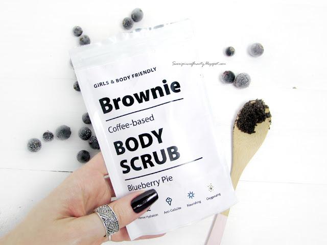 Скраб для тела Brownie Черничный пирог / блог A piece of beauty