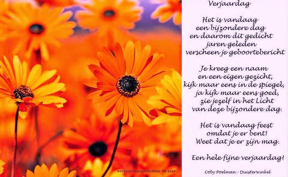 verjaardag gedicht 40 jaar Verjaardag 40 Jaar Vrouw Gedicht   ARCHIDEV verjaardag gedicht 40 jaar