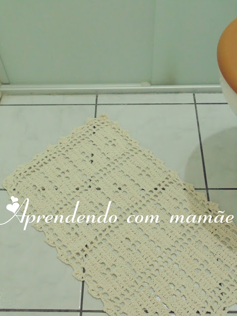 tapete de banheiro, porta papel higiênico, EuroRoma, crochê, banheiro, decoração, tapete, barbante EuroRoma, editora Sampa