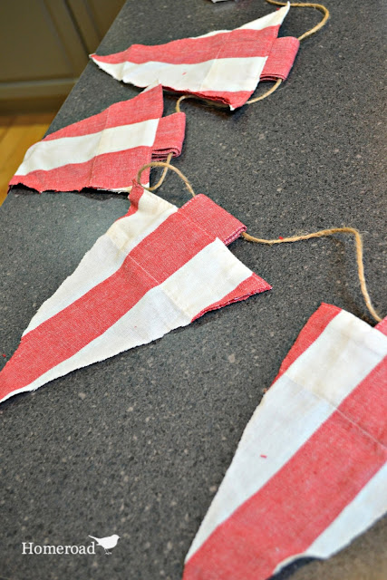 Create DIY striped flags for the Fourth of July