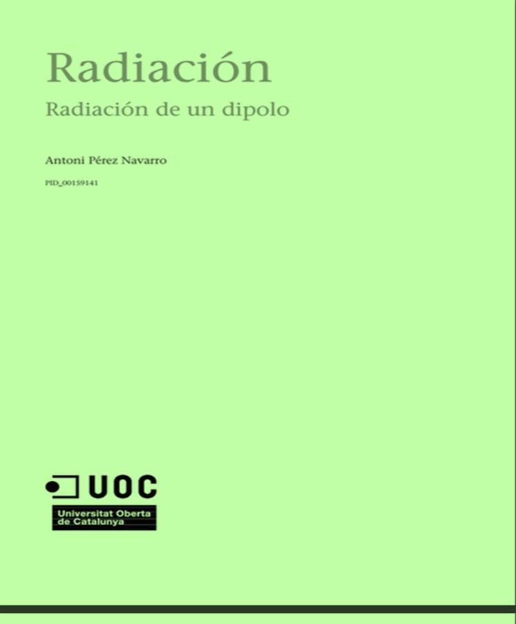 Radiación: Radiación de un dipolo