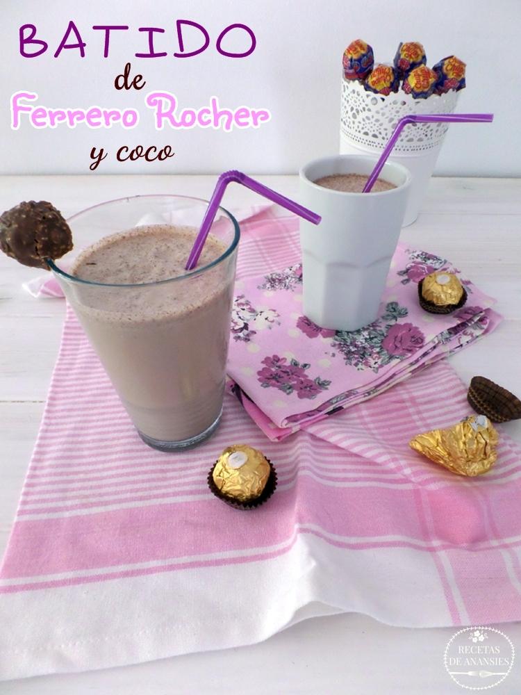 Batido de leche de coco y Ferrero Rocher