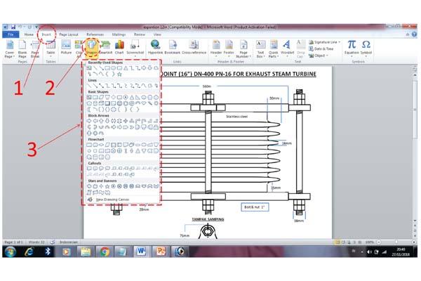Saat membutuhkan sebuah Gambar dalam melengkapi artikel Cara Praktis Menggambar dengan Microsoft WORD, (Panduan lengkap)