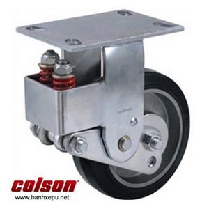Bánh xe cao su lò xo giảm xóc Colson 200 chịu tải 400kg | SB-8508-648 banhxepu.net