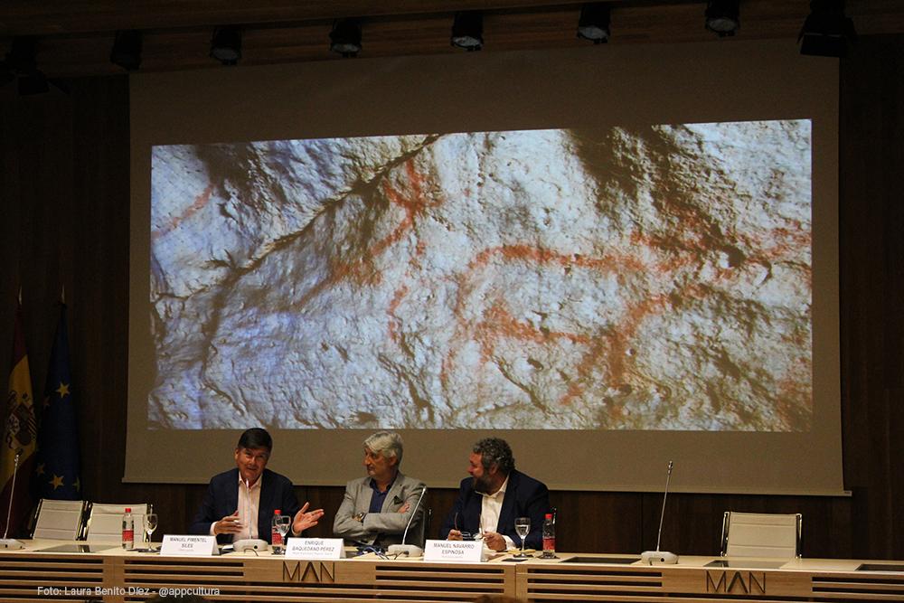 Manuel Pimentel, en su intervención durante la presentación del libro 'Arqueomanía. Historias de la Arqueología' en el Museo Arqueológico Nacional.