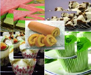 Cara Membuat Kue Bolu Pisang, Pandan, Coklat dan Gulung