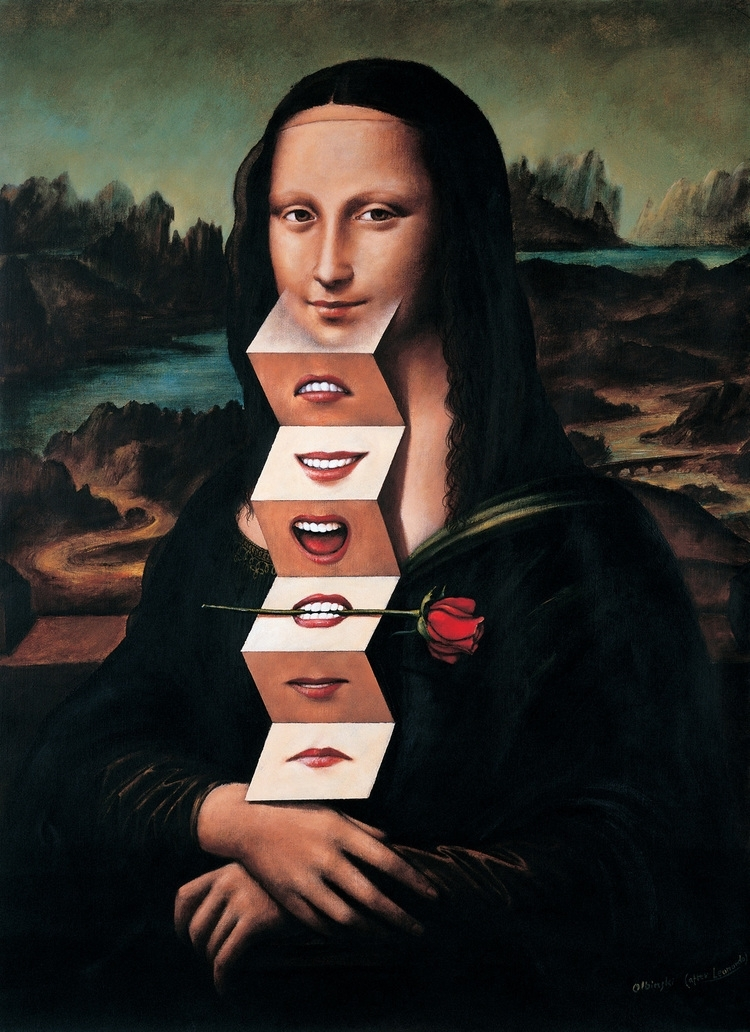 02-Mona-Lisa-Leonardo-da-Vinci-Rafal-Olbinski-Surreal-Paintings-that-Whisper-a-Message-www-designstack-co