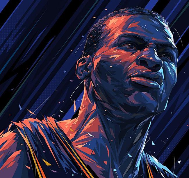 Hyper3 Ye - #YellowMenace Basketball Art Collection