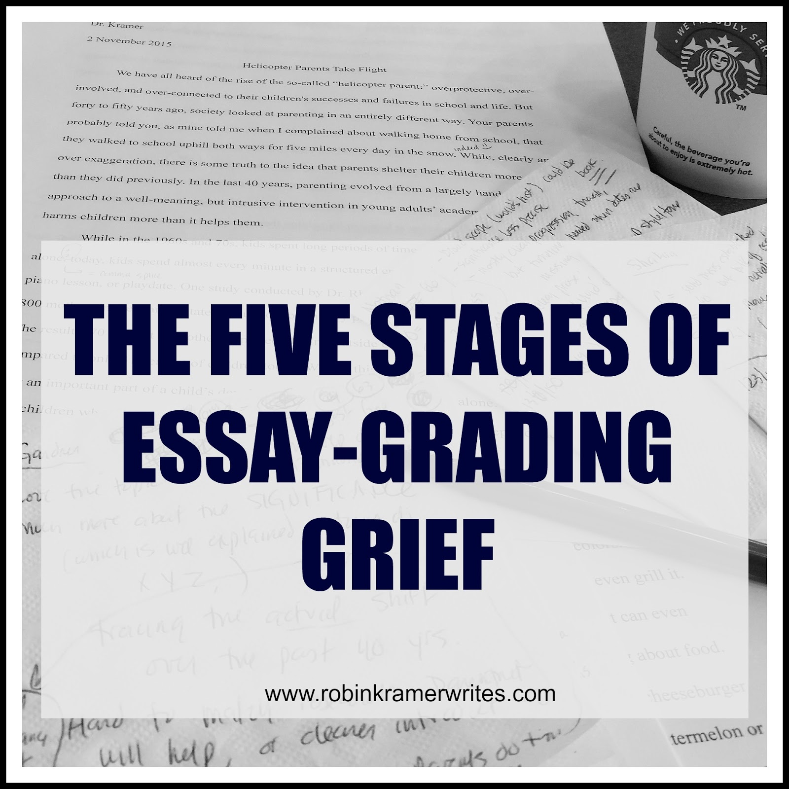The Five Stages of Essay Grading Grief: higher education, just funnier