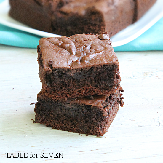 Chocolate cake with brownie mix