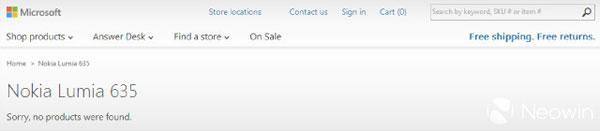 Halaman Pre Order Nokia Lumia 635 HIlang dari Microsoft Store