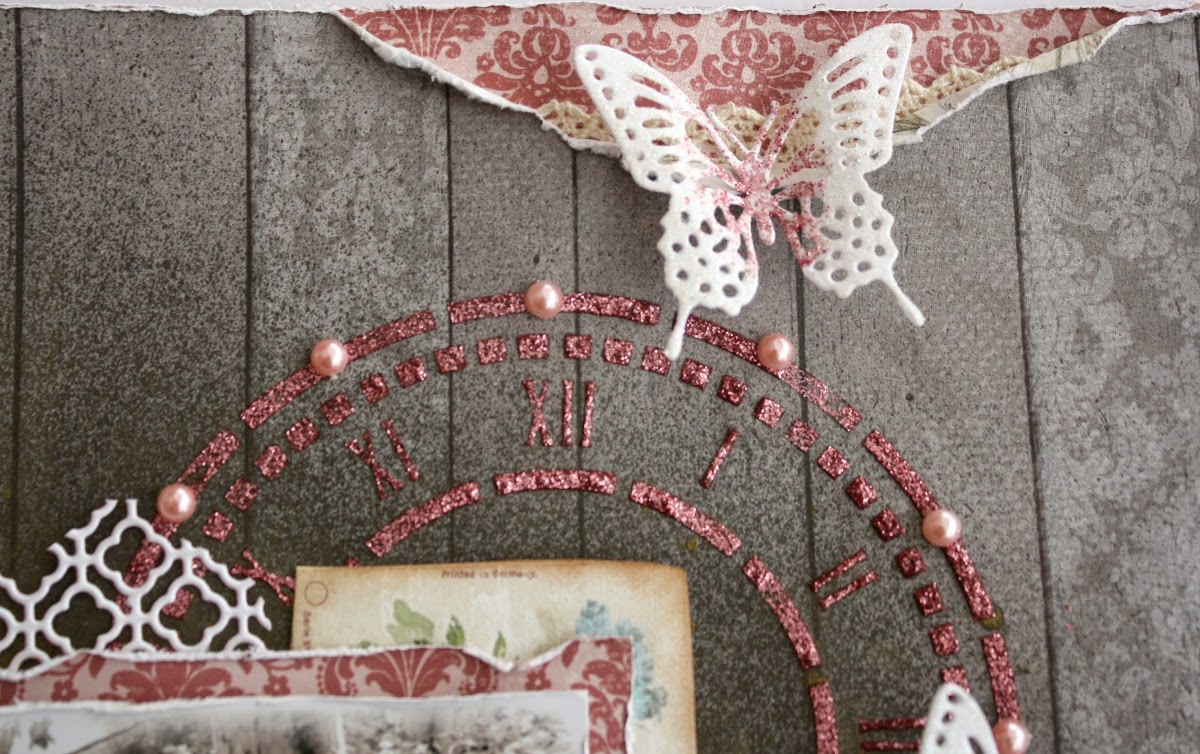 Be You by Gabrielle Pollacco using Bo Bunny's Garden Journal papers and embellishments along with their new dies, Glitter pastes, Stencils and Shimmer Sprays