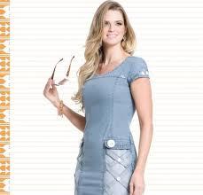 modelos de vestidos jeans curtos - looks, fotos e dicas