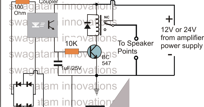 make this amplifier short  overload protection circuit