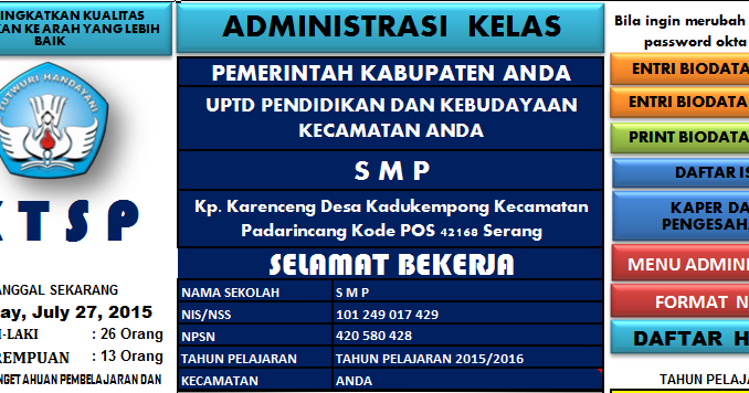 Download Aplikasi Administrasi Kelas Smp File Sekolah
