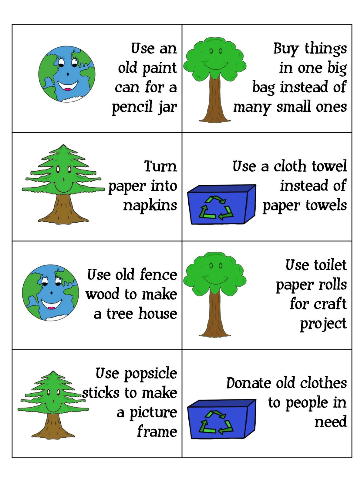 Printables Reduce Reuse Recycle Worksheets