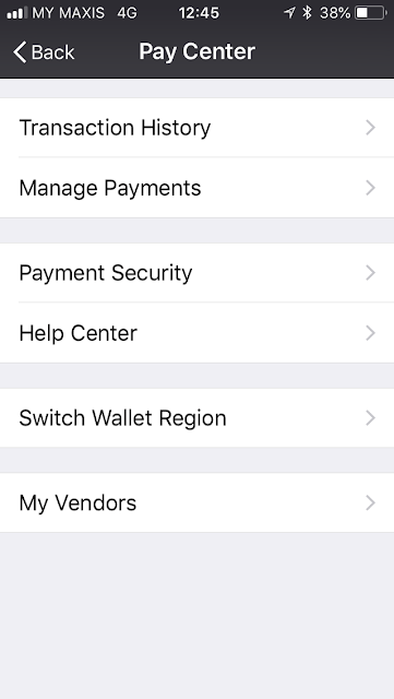 WeChat Pay: switch wallet region