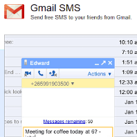 Send SMS using Google Gmail Service in India
