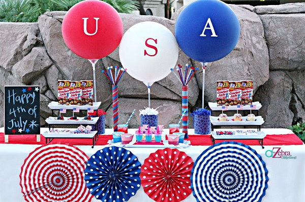 4th July 2016 Decoration, Recipes, Party Ideas | Stylish Fourth Of July Party Ideas