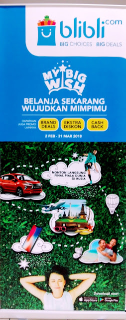 Portal belanja online Blibli.com menghadirkan program My Big Wish