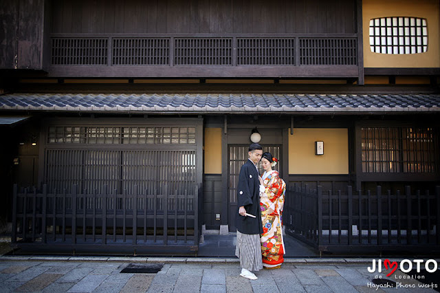 京都で前撮りロケーション撮影