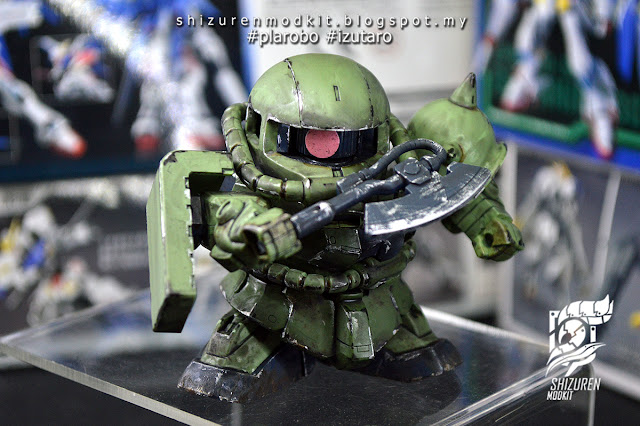 MS-06F ZAKU II SD GUNDAM G GENERATION review by syazrin syauqi