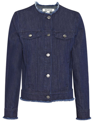 whistles frayed jean jacket