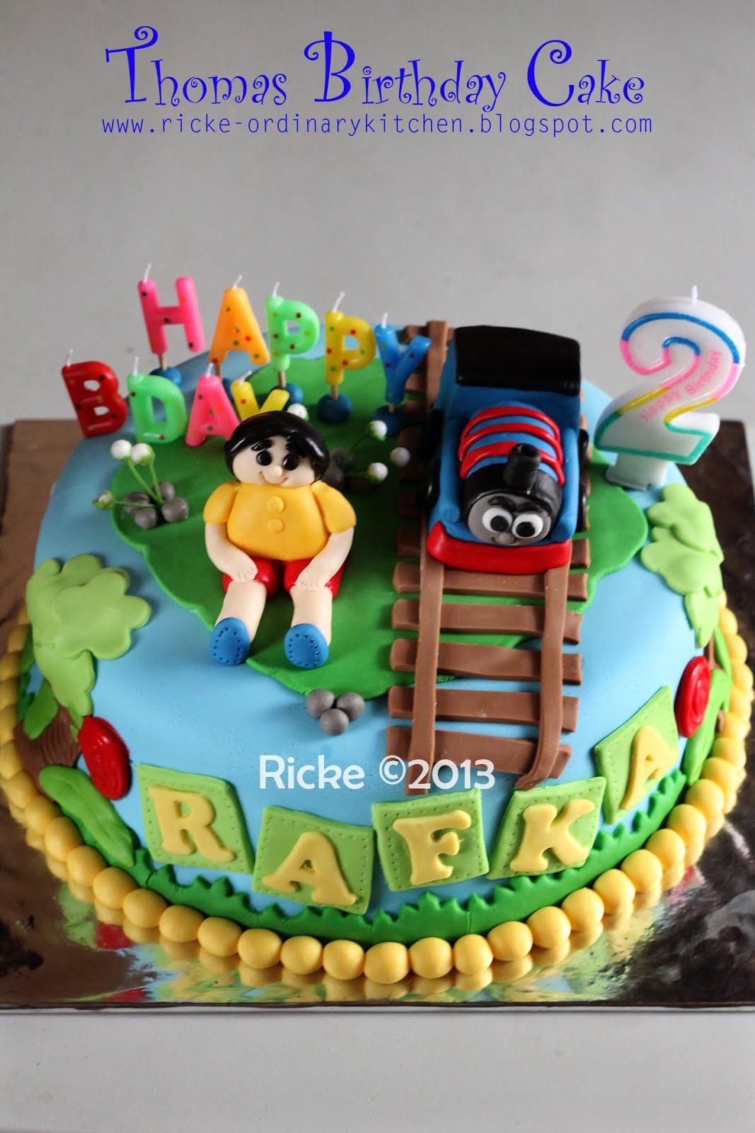 Just My Ordinary Kitchen THOMAS BIRTHDAY CAKE FOR RAFKA