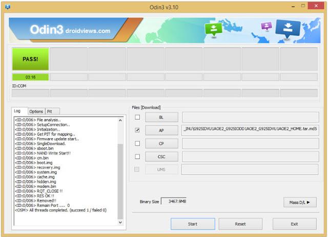 instalar firmware grand prime g531m odin